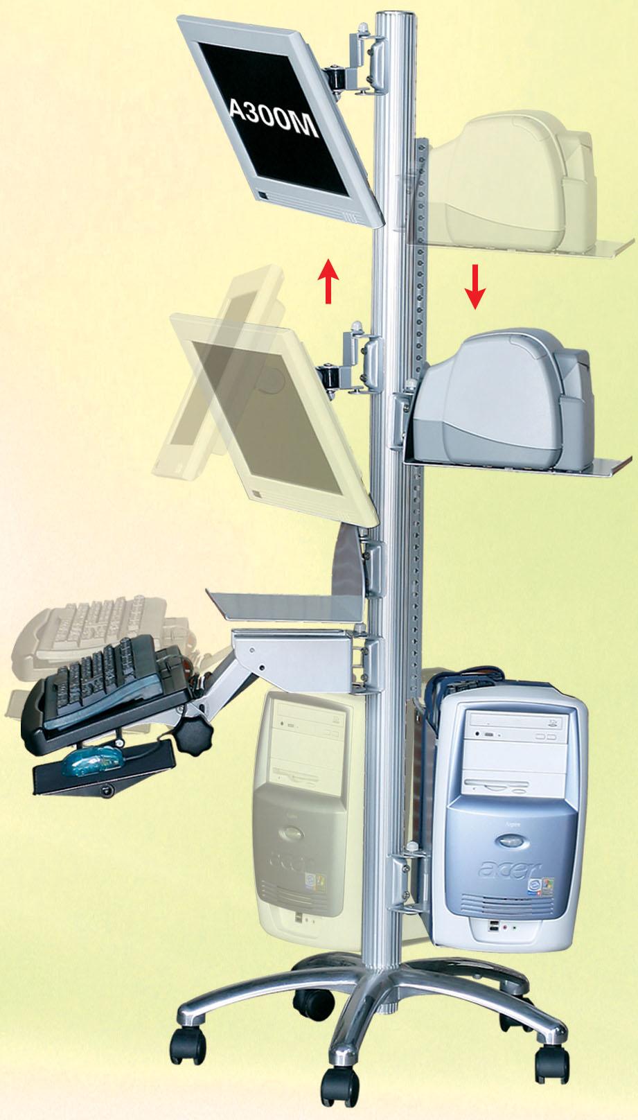 Mobile Work Station | Desk mounts | Office | HowLo (the bracket people