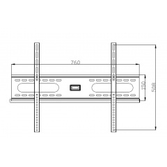 Howlo AL2504Cl-1 Flat Wall Mount Bracket Dimensions