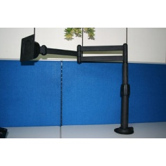 Desk-Mounted Grommet Two ways Swivel Arm for LCD Monitors