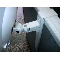Mini Swivel Arm Mountable on Partition for LCD Monitors